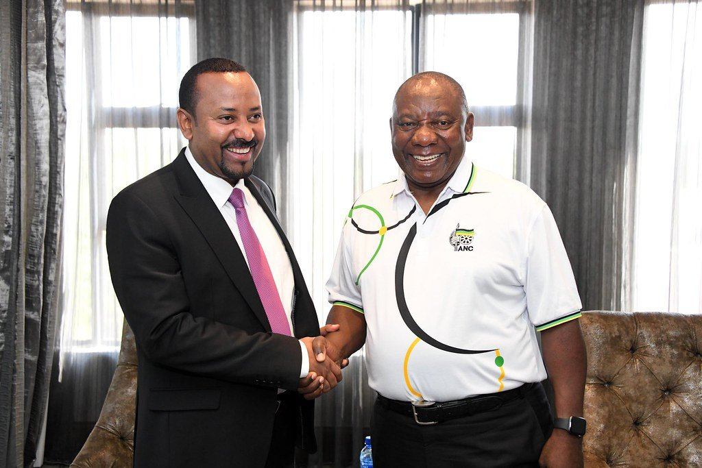 """Photo Credit: """"President Cyril Ramaphosa hosts Prime Minister Abiy Ahmed Ali on Official Visit"""" by GovernmentZA is licensed under CC BY-ND 2.0"""
